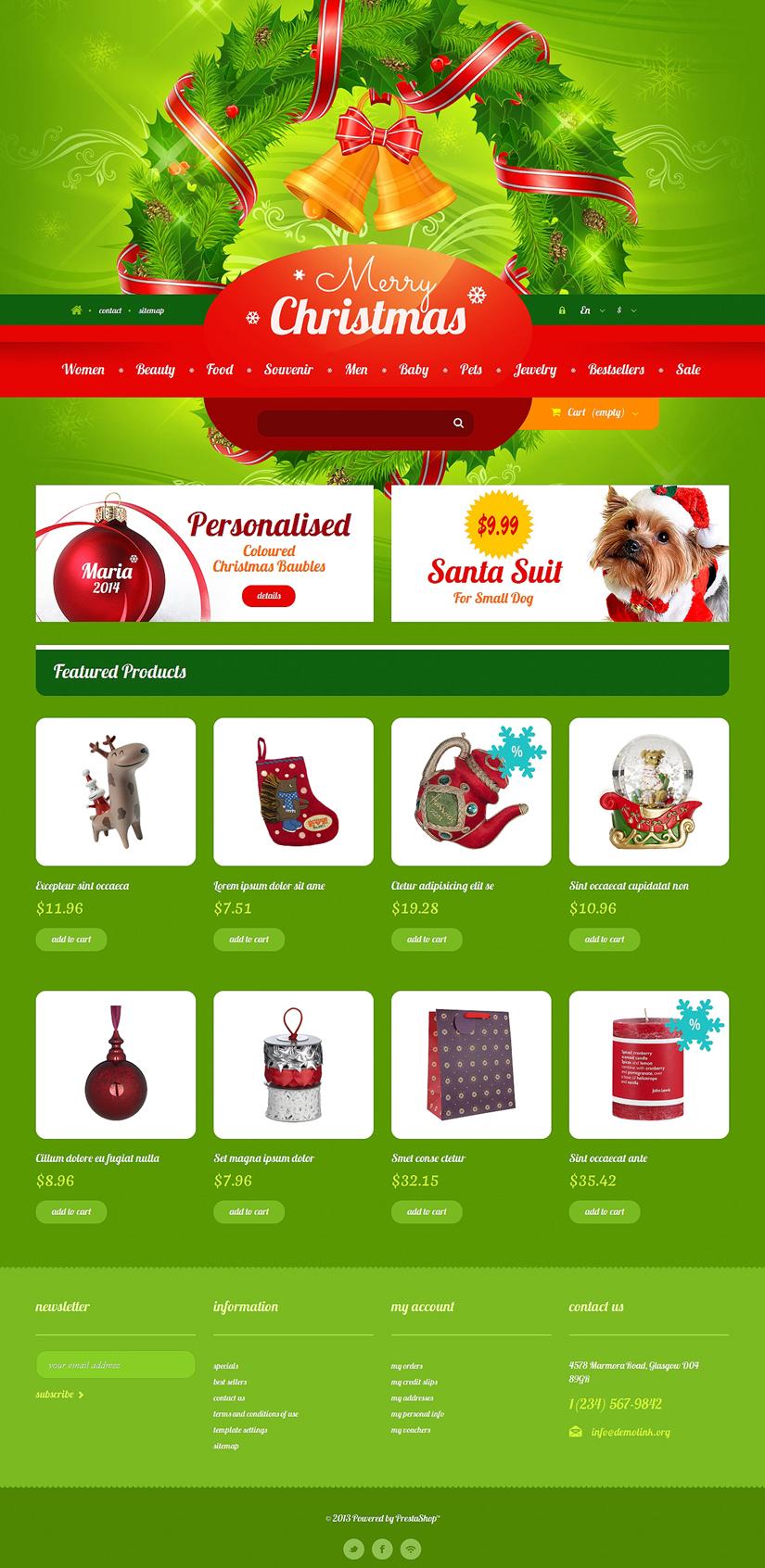 Christmas Gift Shop PrestaShop Theme