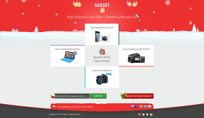 Christmas & New Year Landing Page