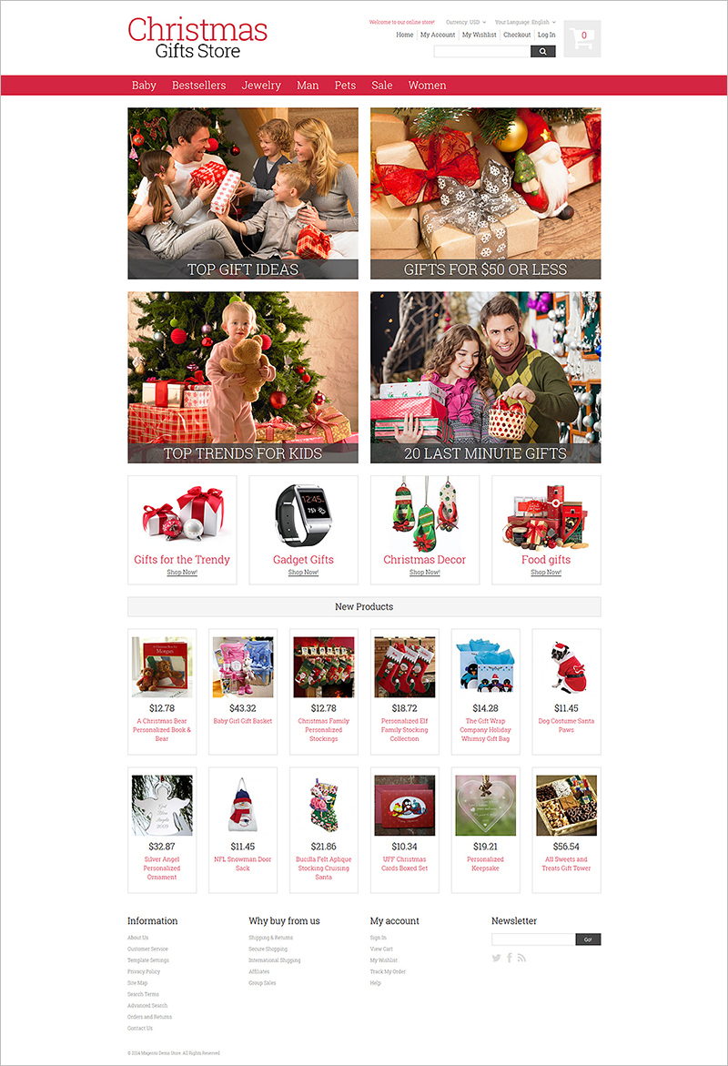 Christmas Store Website Template