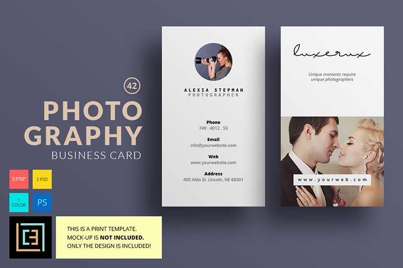 Classic Photographers Business Card Design