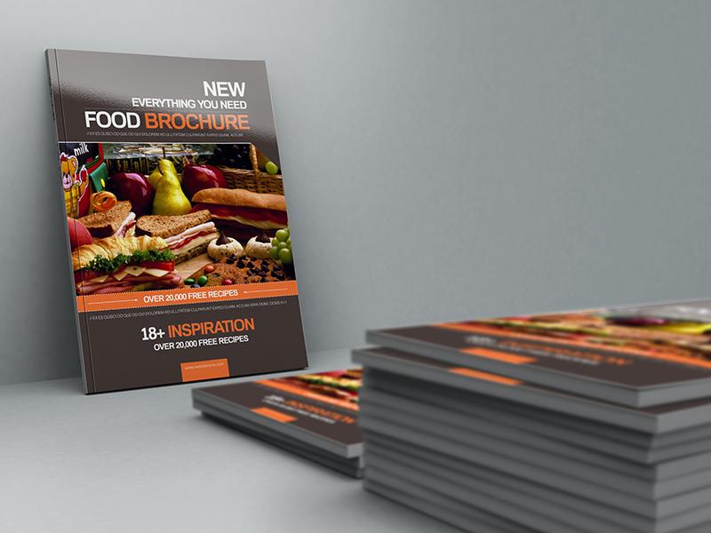 Clean Design Brochure Template for Food Menu