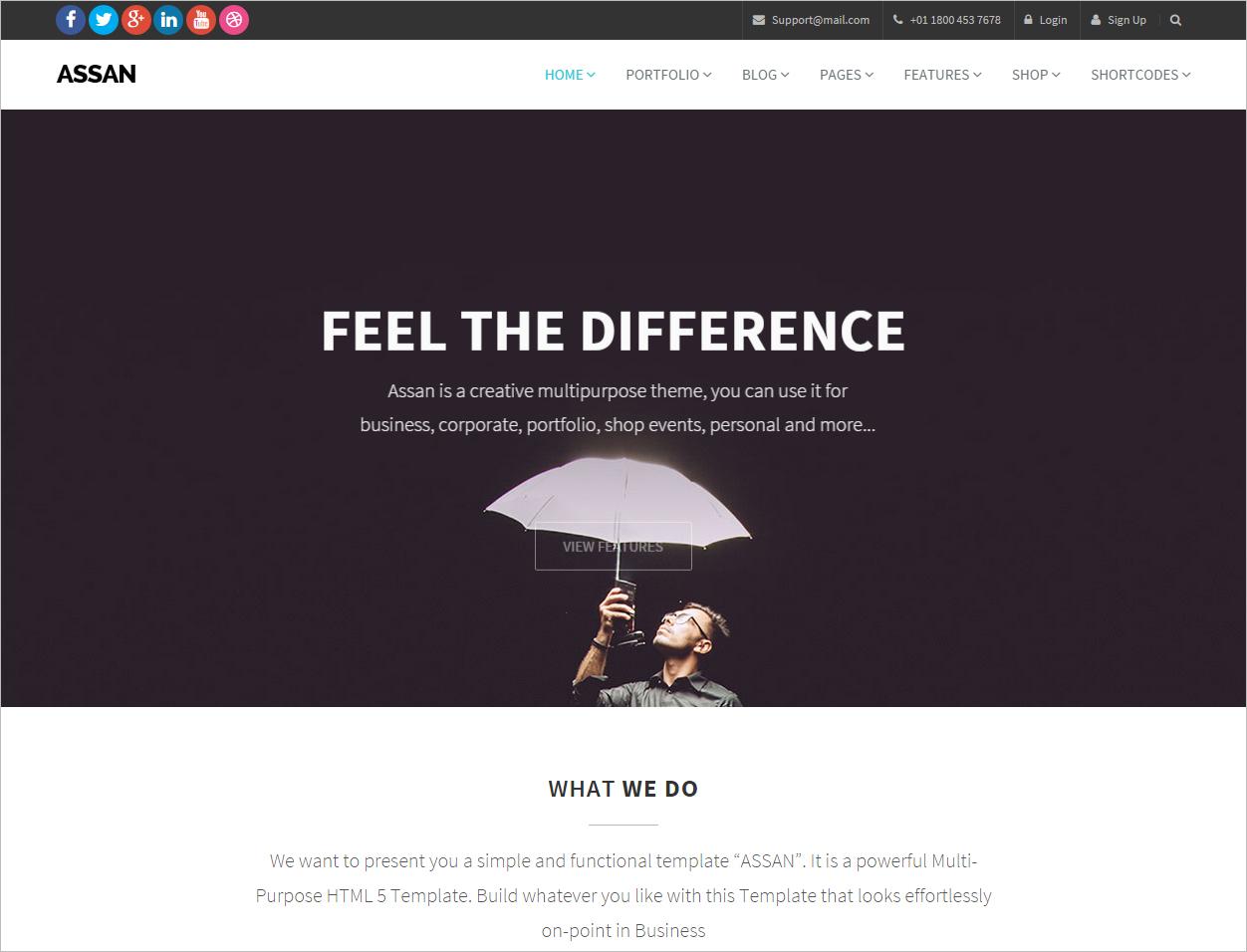 Clean Multi Purpose Bootstrap Template