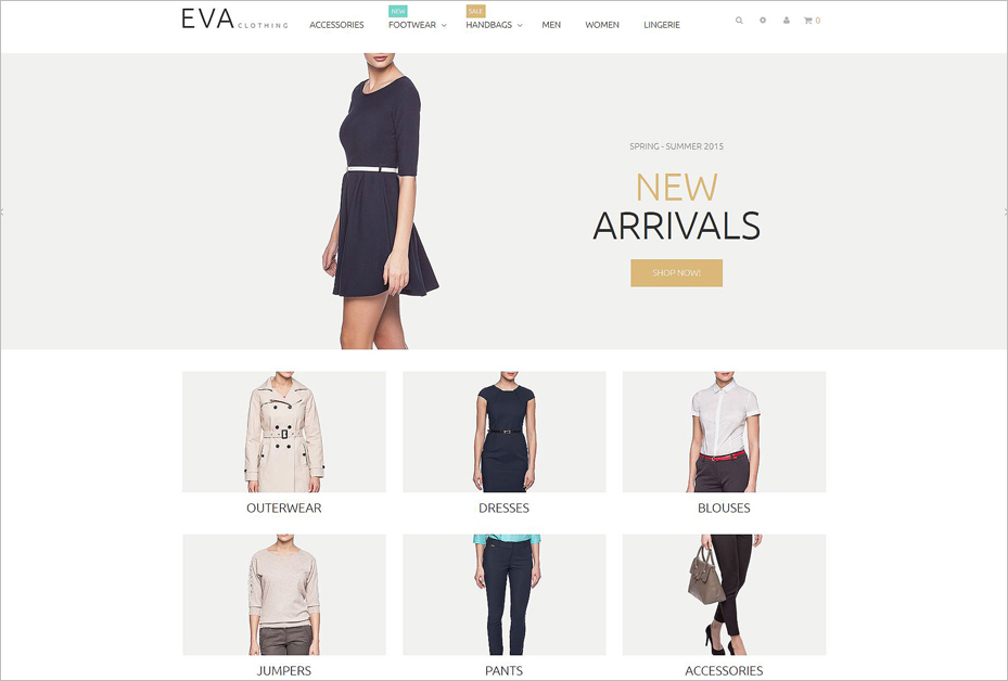 Clothes Online Store Magento Theme