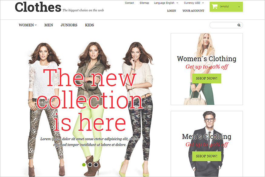 Clothing Fashion PrestaShop Theme
