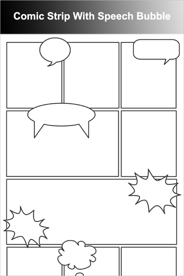 Comic Strip With Speech Bubble