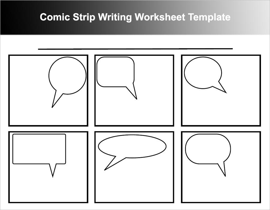 Comic Strip Writing Worksheet Template