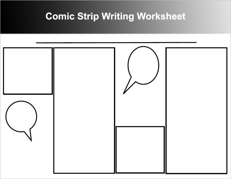 Comic Strip Writing Worksheet