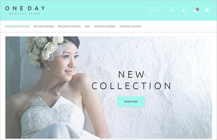 Complete Bridal Shopping OpenCart Template