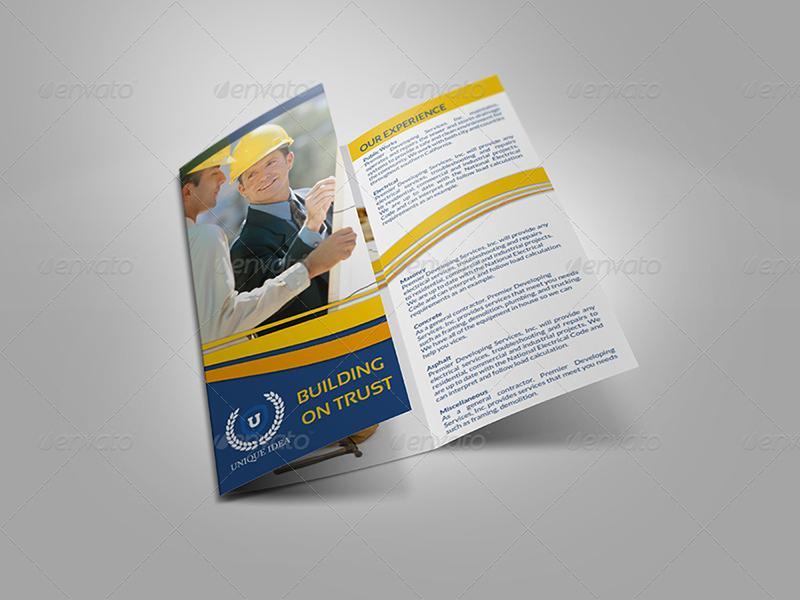 Construction Company Brochure Tri-Fold