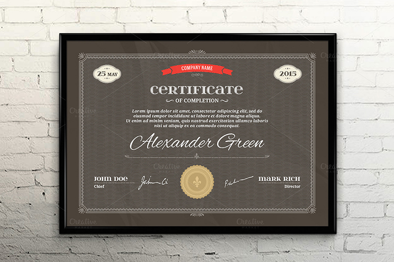 Corporate Certificate Vector