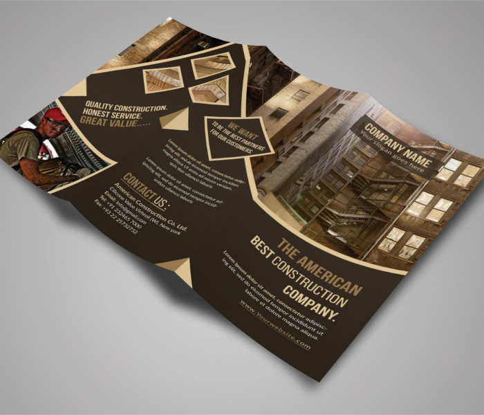 Construction Company Brochure Templates Free Pdf Templates