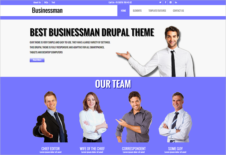 Corporate Drupal Theme