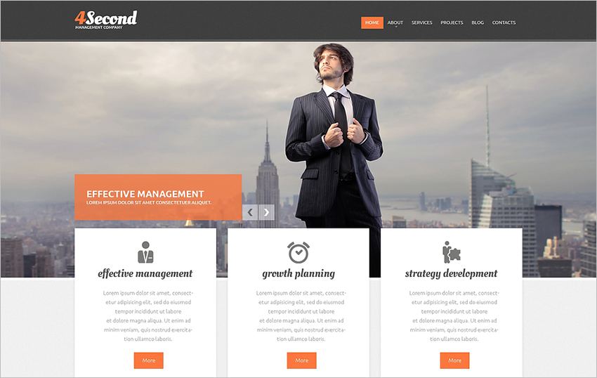 Corporate Management Drupal Template