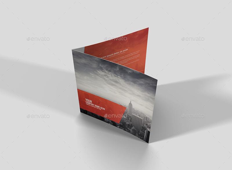 Corporate Square Bi-Fold Brochure