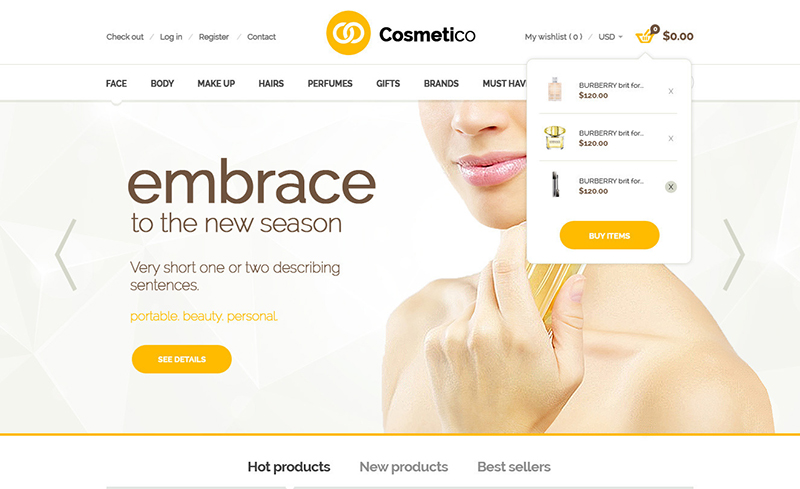 Cosmetic Shop Responsive OpenCart Template
