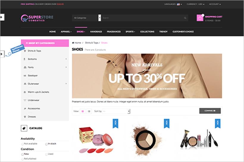 Cosmetic Store Prestashop Site Theme