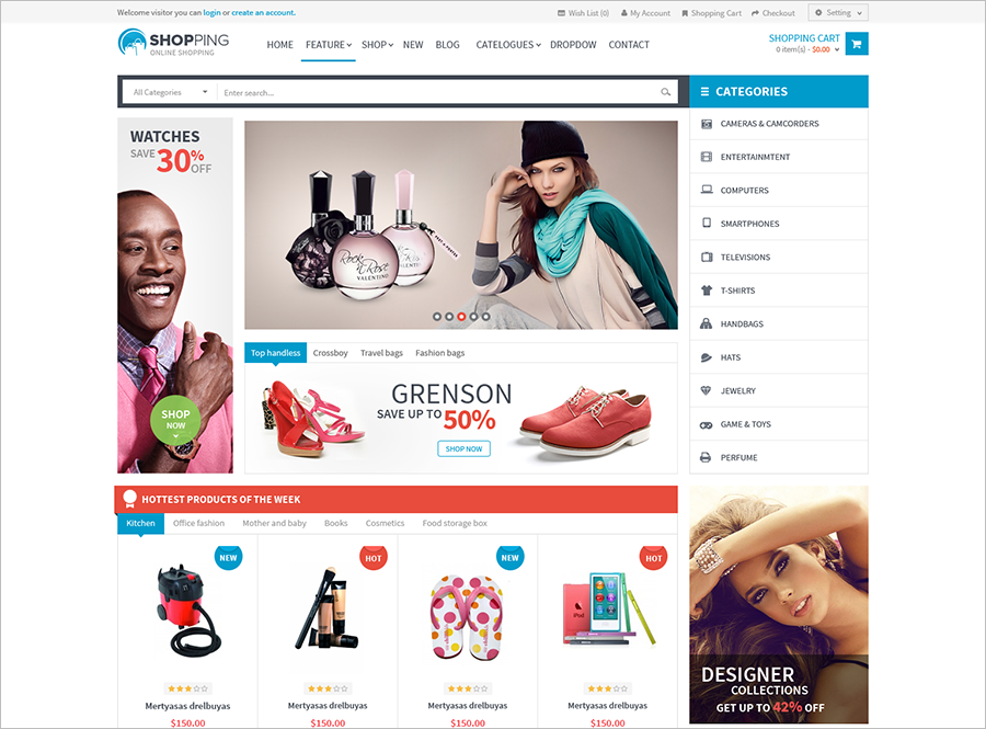 Cosmetics Shopping Prestashop Theme