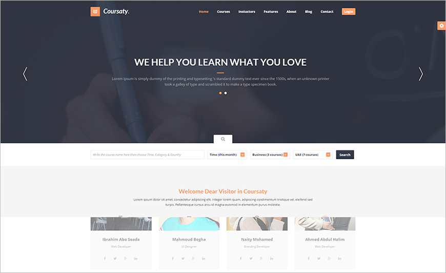 Courses HTML Template With Multi Home Page Styles