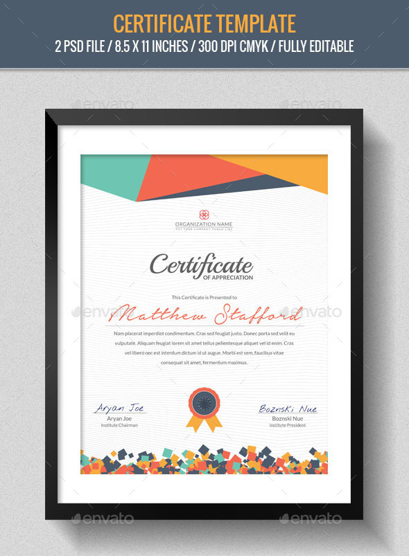 Creative Certificate Design Inspiration ...  Certificates Templates Free