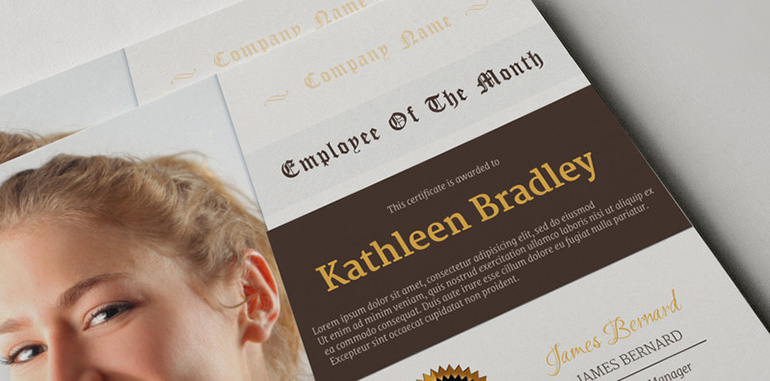 certificate templates - cover