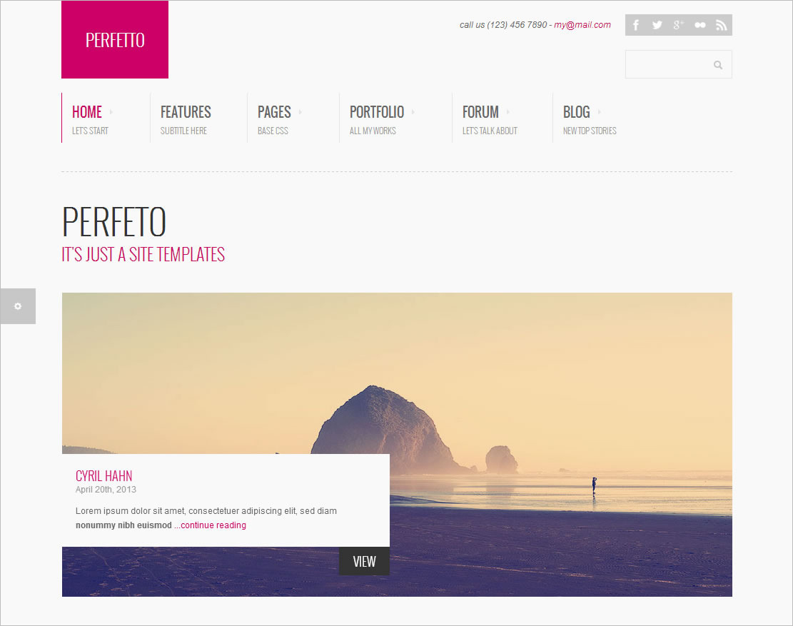 100% Customizable Bootstrap Website Template