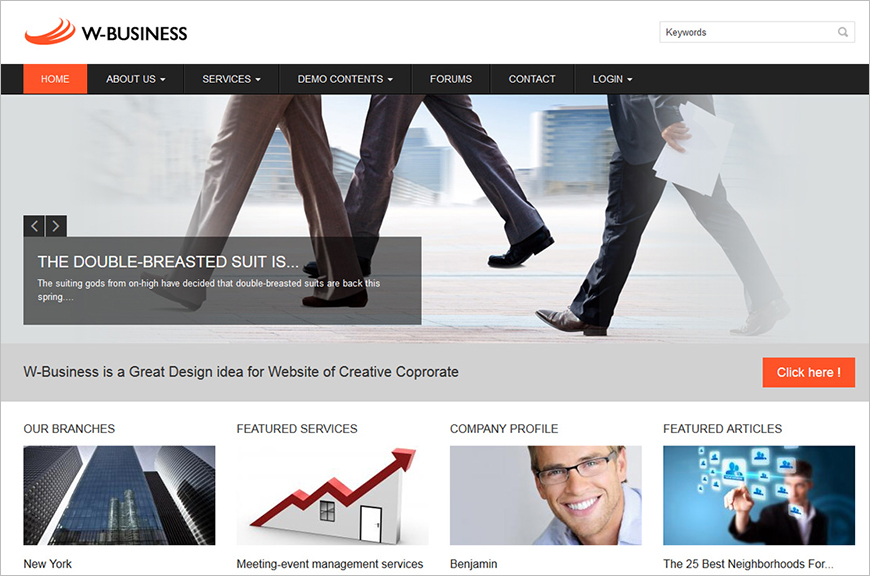 Customizable Coporate Drupal Template