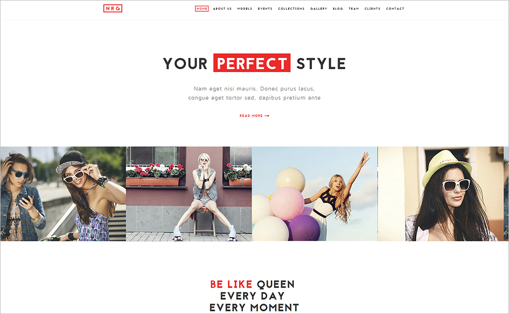 Customizable Model Agency & Fashion Drupal Theme