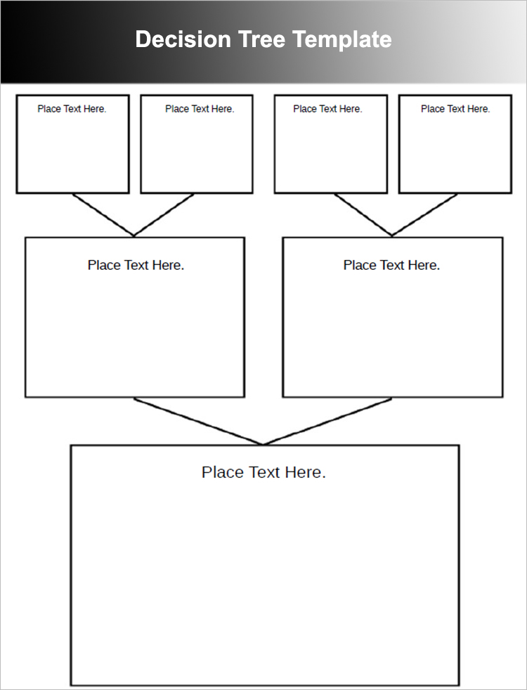 Decision tree template word pictures to pin on pinterest for Blank decision tree template