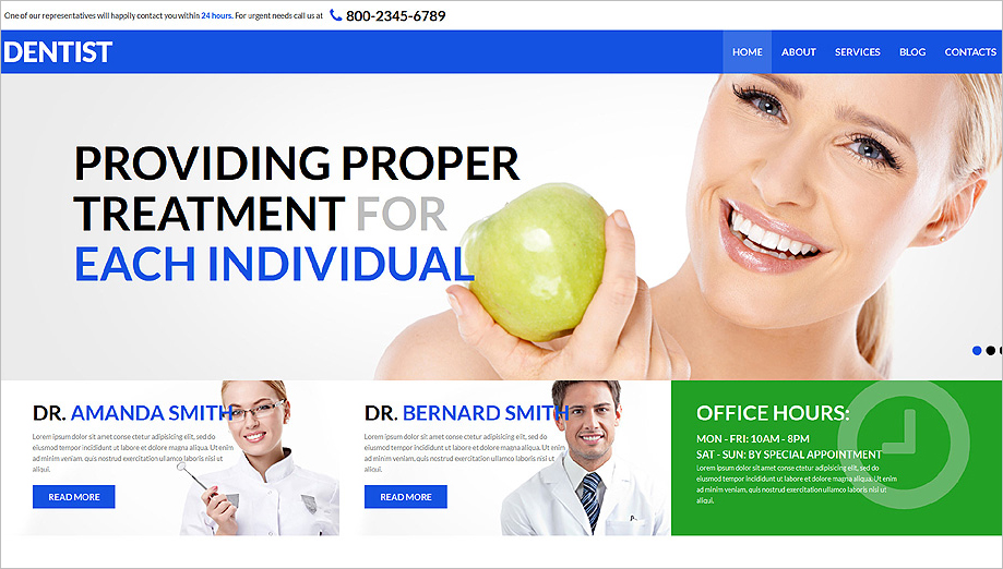 Dental Health and Care Joomla Template