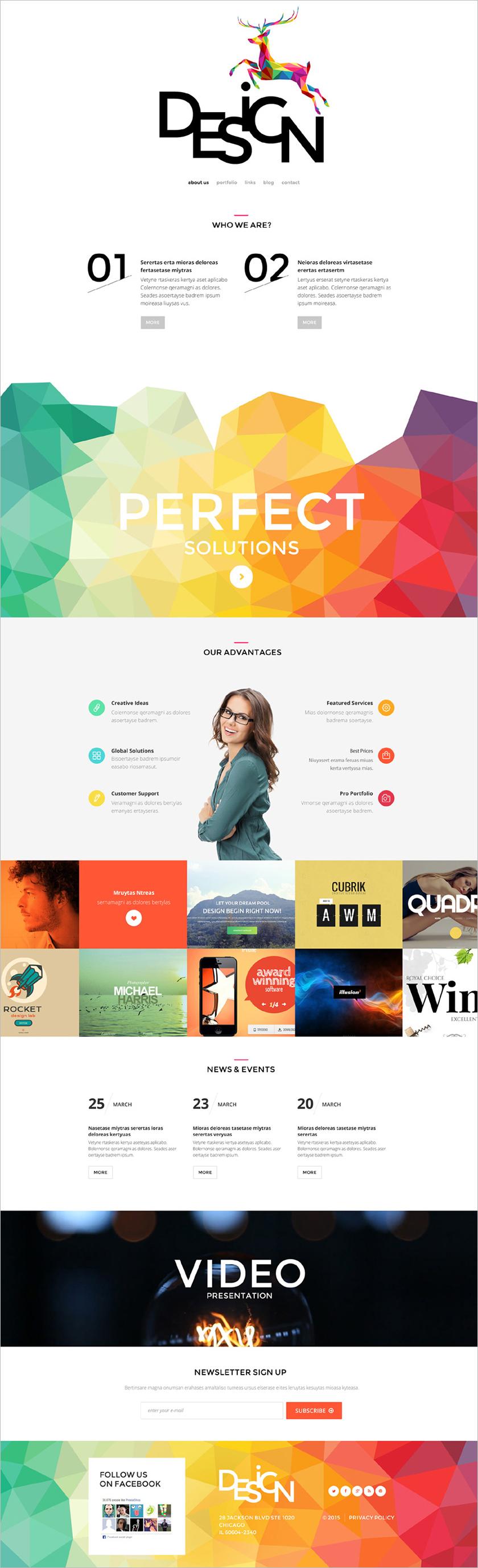 Design Business Blog Joomla Template
