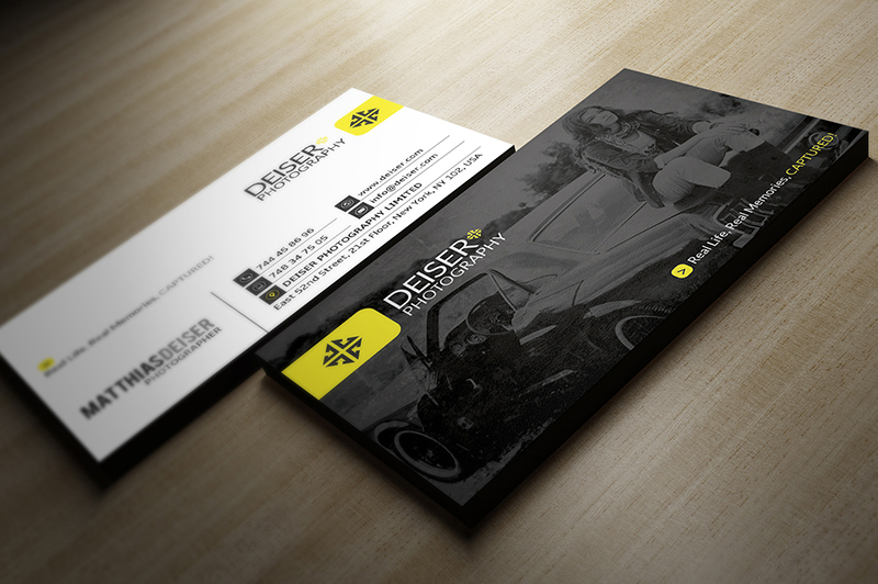 Designer Photographer Business Card