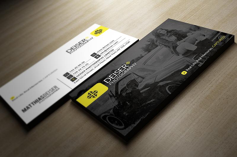 Designer Photographer Business Card