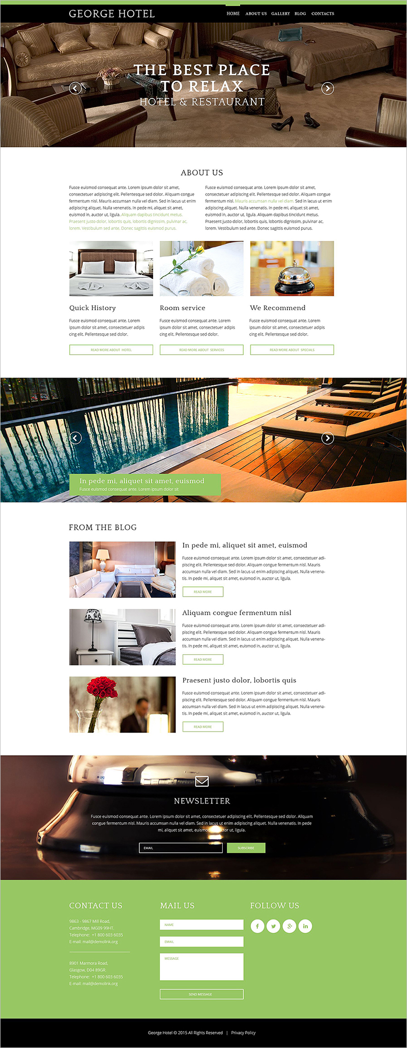 free drupal themes for hotels