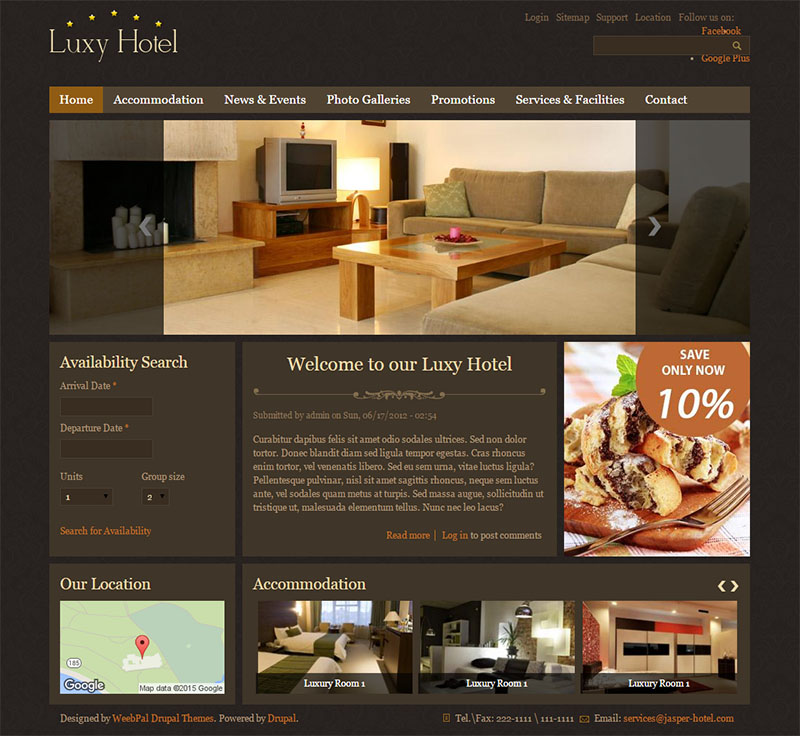 Drupal Hotel Booking Theme Free