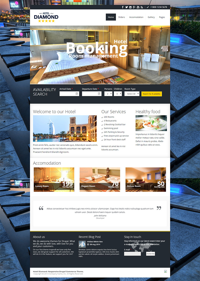 Drupal Hotel Booking Theme
