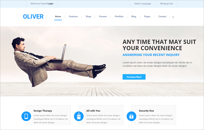Drupal Multipurpose Corporate Site Theme