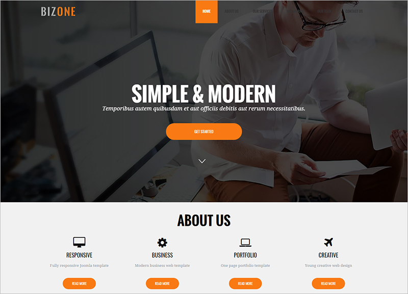 Drupal One Page Business Theme