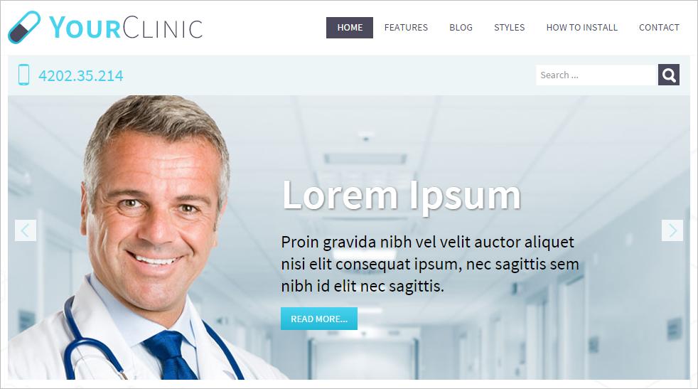 Easily Customizable Clini Web Joomla Template