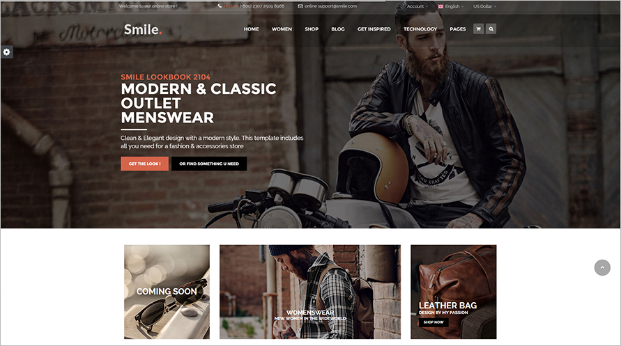 Easily Customizable HTML E-commerce Template