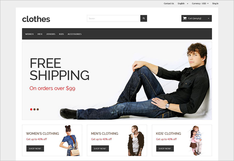 Ecommerce Theme Free Download