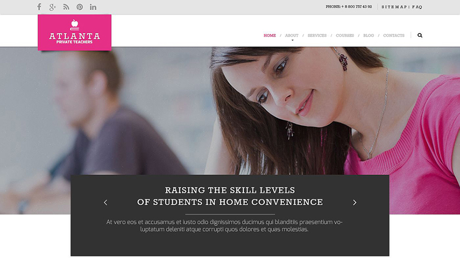 Education Responsive HTML Template