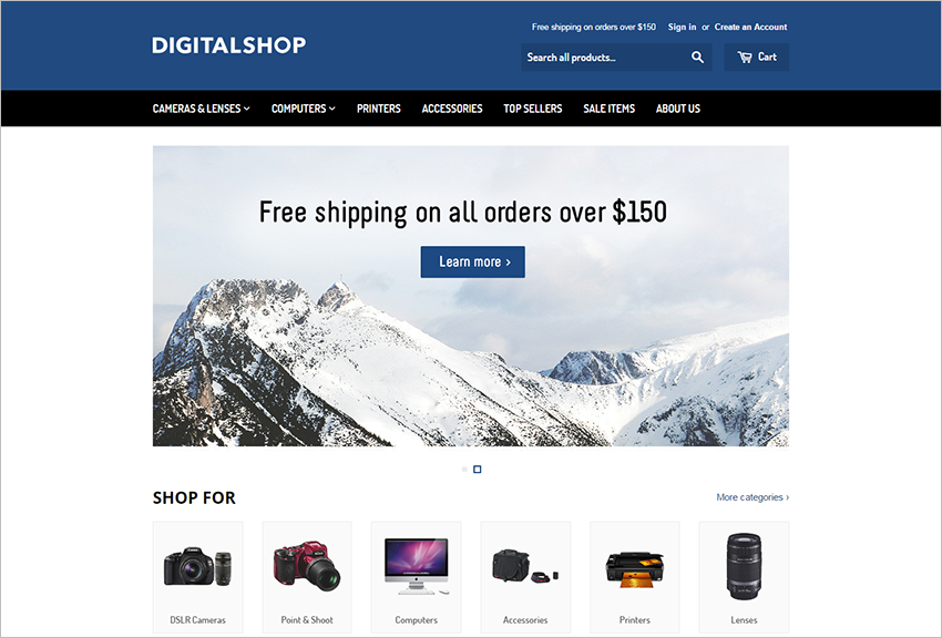 Electronic Store eCommerce Theme