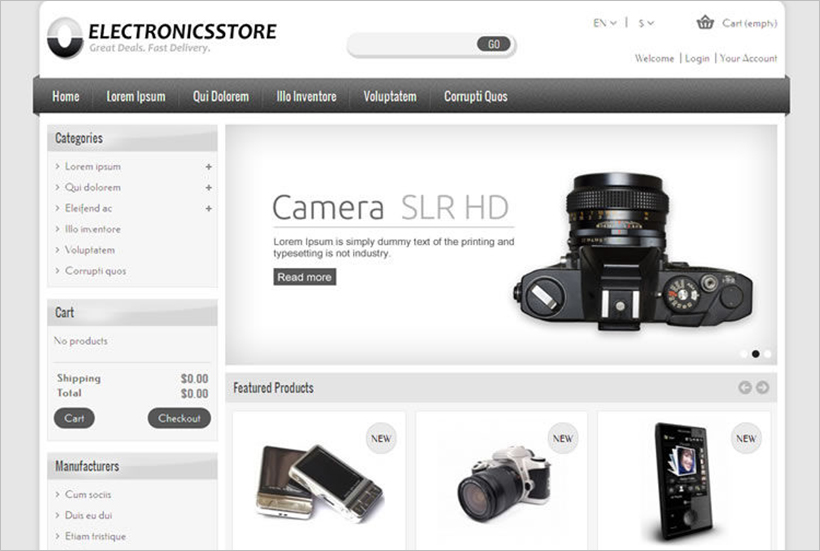Electronics Shop Prestashop Theme