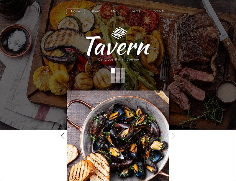 Excellent Cafe & Restaurant HTML Website Template