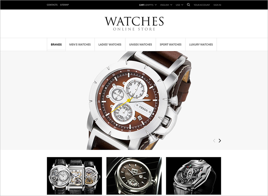 Exclusive Watches Store PrestaShop Theme