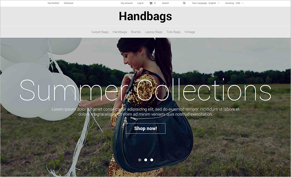 Fashion Accessories Store eCommerce Magento Theme