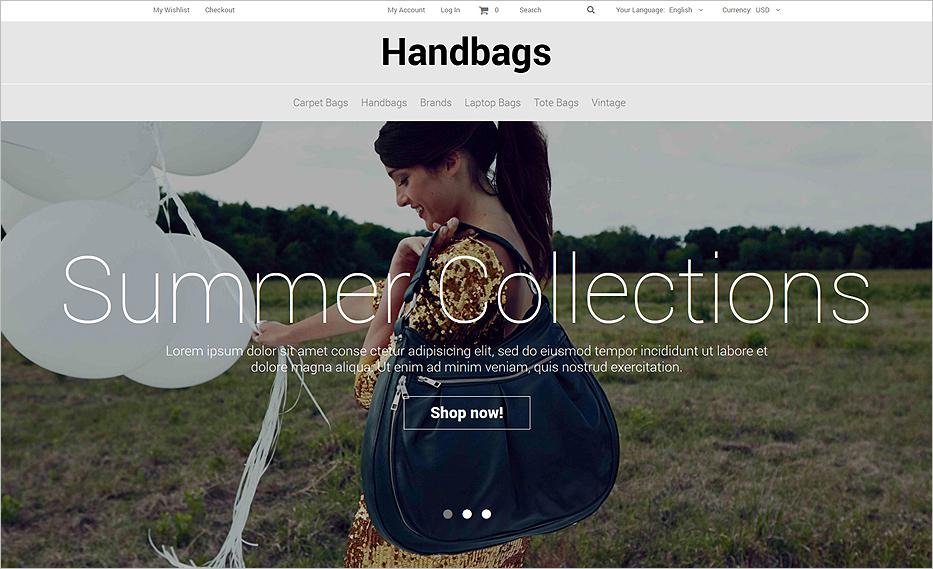Fashion Accessories Store eCommerce Magento Theme
