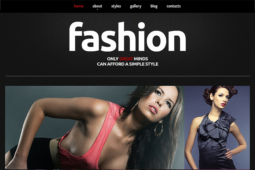 Fashion Blog Joomla Template