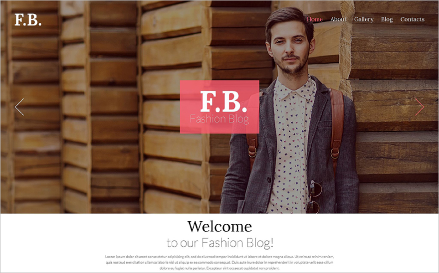 Fashion Blog WordPress Template