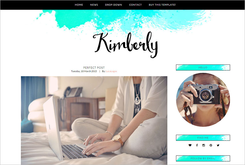 Fashion Blogger Website Template
